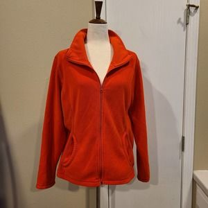 XL Old Navy Orange Fleece Jacket